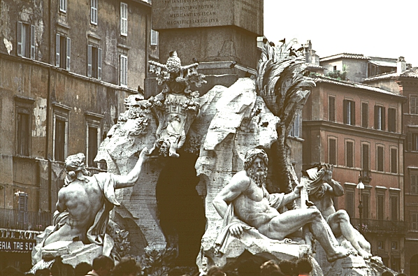 Images of the Four Rivers fountain, by Bernini, 1648-51 ...