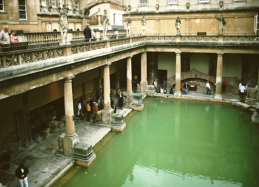 Images of the Baths at Bath England Digital Imaging Project Art