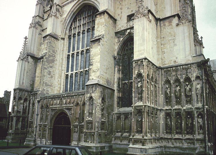 0e05bad3d173 Left and center  Canterbury from the southwest  unlike most cathedrals