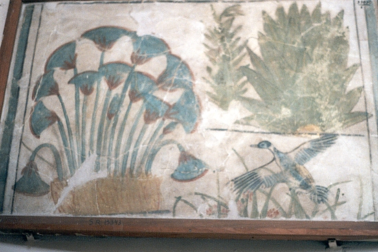 Works from the egyptian museum at cairo for Egyptian fresco mural painting