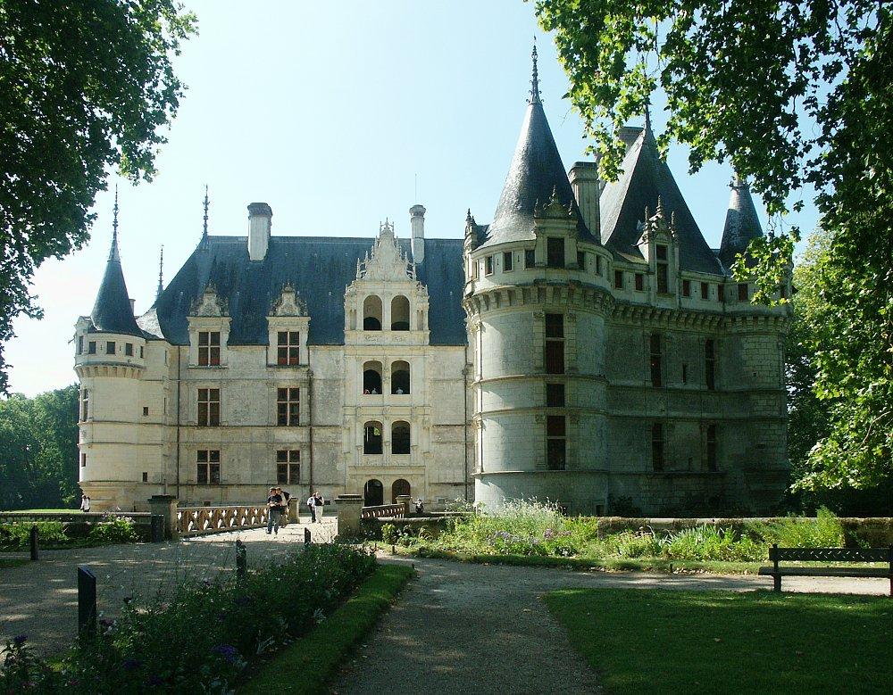 D Front Elevation Of Building : Chateau azay le rideau france