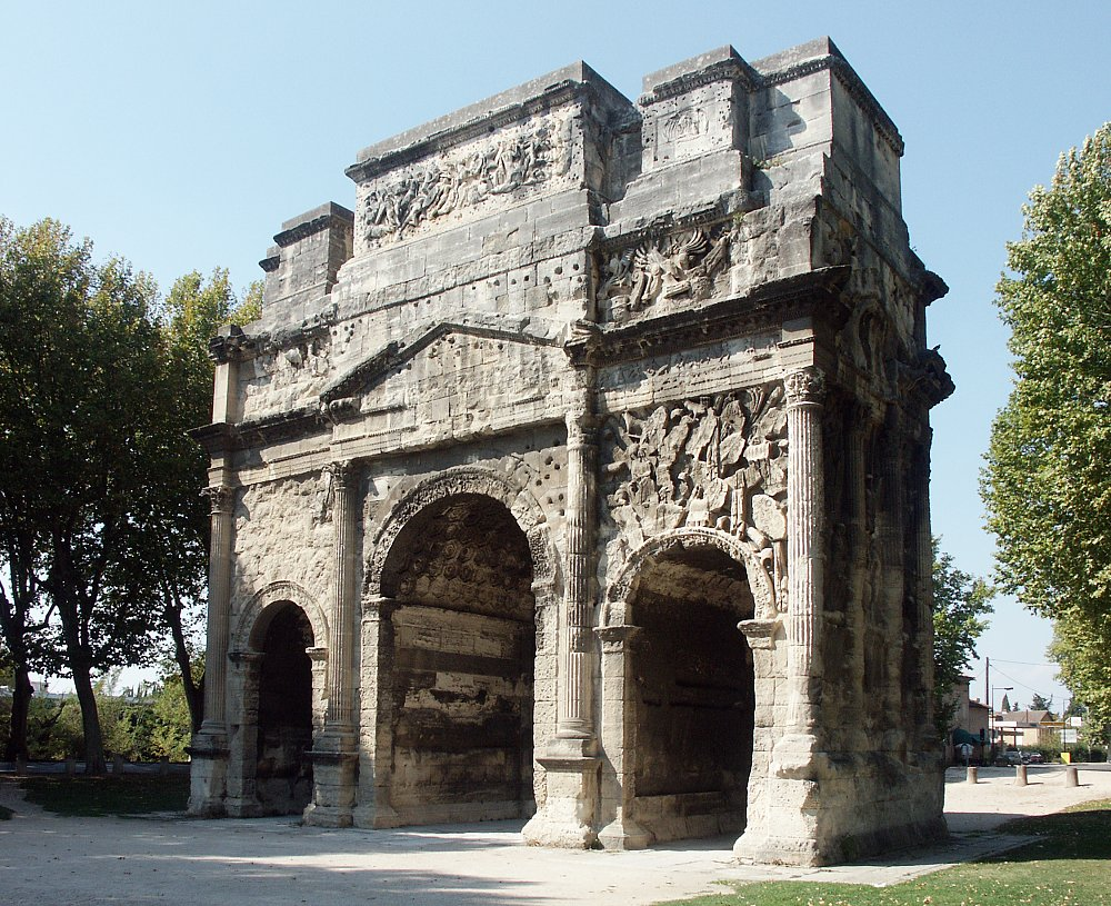 Images of the Roman Triumphal Arch at Orange, France  Images of the R...