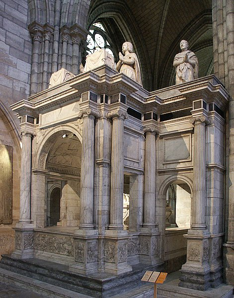 images of basilica of st denis paris tomb of louis xii and anne of brittany by antonio and. Black Bedroom Furniture Sets. Home Design Ideas