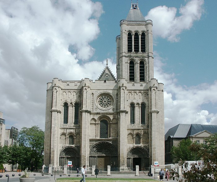 St Denis Architecture #9: Basilica Of St. Denis--page 1 (of Ten Pages): Front Facade