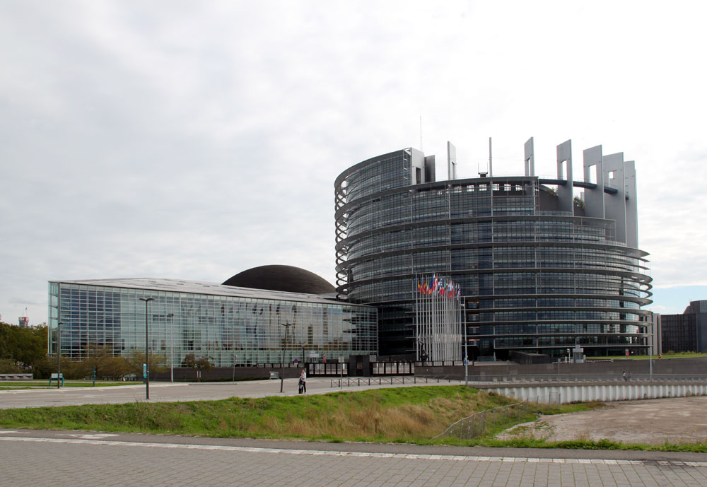 Images of Louise Weiss building, European Parliament