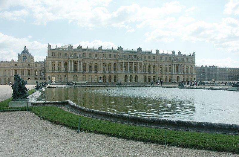Garden Facade Palace Of Versailles Versailles France