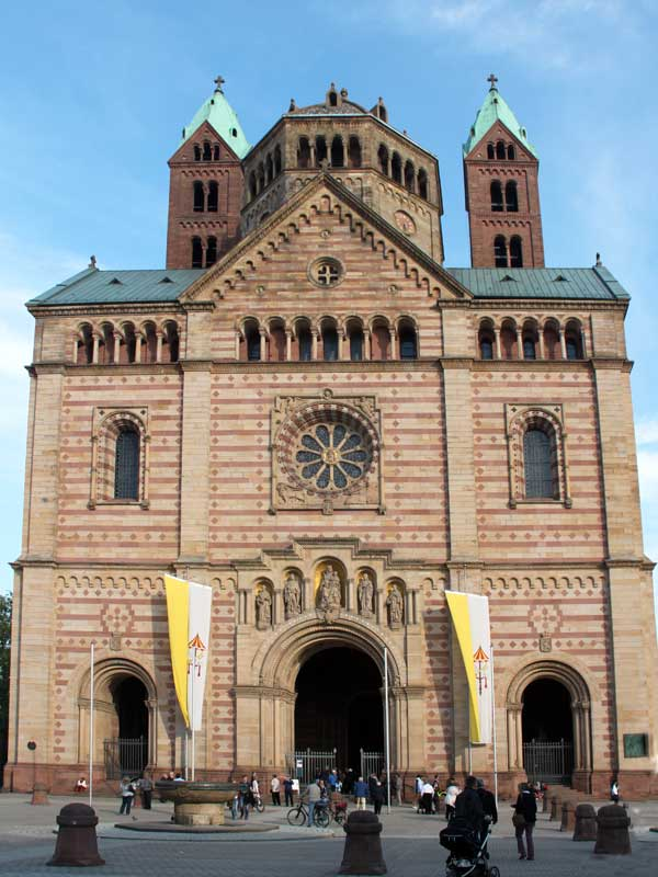 Speyer Cathedral (front). | Romanesque Architecture | Pinterest ...
