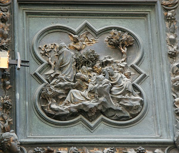 Agony in the & Images of the North Doors by Ghiberti Florence Baptistry Florence ...