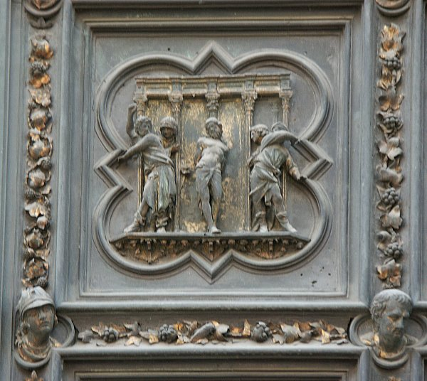 Schema of the North Doors & Images of the North Doors by Ghiberti Florence Baptistry Florence ...