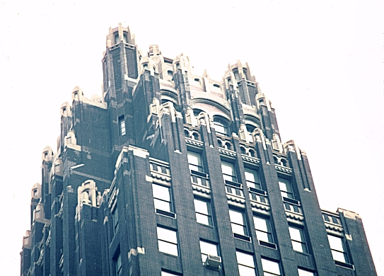 Black Marble Buildings : Images of american radiator building by hood and