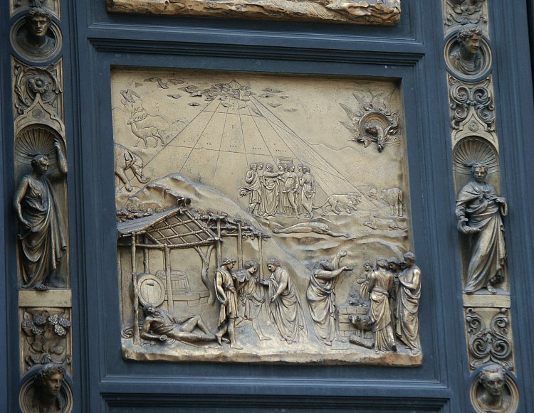 Noah & Images of the Gates of Paradise by Ghiberti Florence Baptistry ... Pezcame.Com