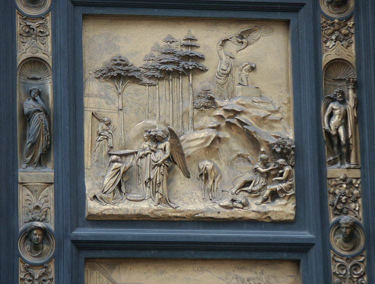 Abraham & Images of the Gates of Paradise by Ghiberti Florence Baptistry ... Pezcame.Com