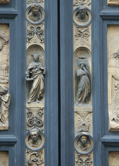 See also Ghiberti\u0027s first set of doors on the North entrance of the Baptistry. See also Andrea Pisano\u0027s doors on the South entrance of the Baptistry. & Images of the Gates of Paradise by Ghiberti Florence Baptistry ...