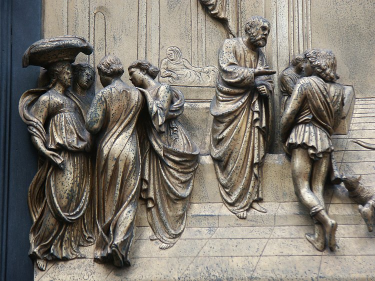 Isaac & Images of the Gates of Paradise by Ghiberti Florence Baptistry ... Pezcame.Com