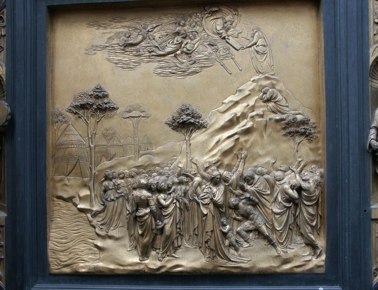 Moses & Images of the Gates of Paradise by Ghiberti Florence Baptistry ... Pezcame.Com