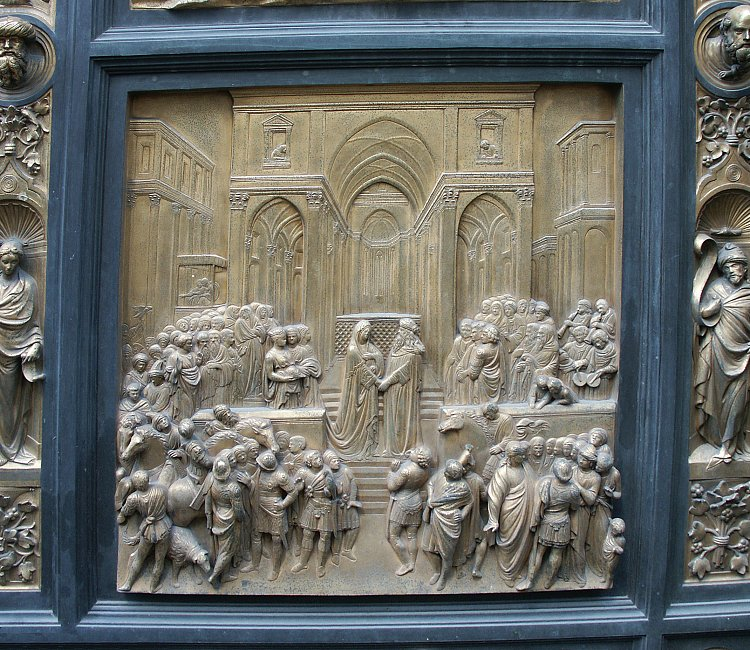 Solomon & Images of the Gates of Paradise by Ghiberti Florence Baptistry ... Pezcame.Com
