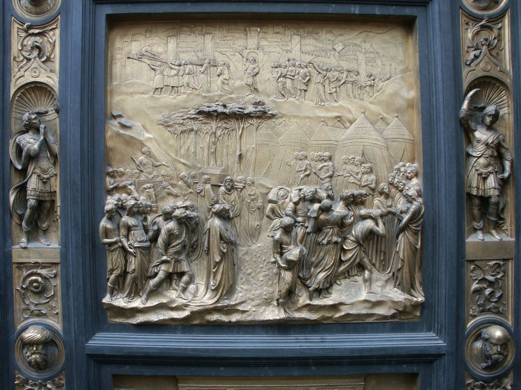 Joshua & Images of the Gates of Paradise by Ghiberti Florence Baptistry ... Pezcame.Com