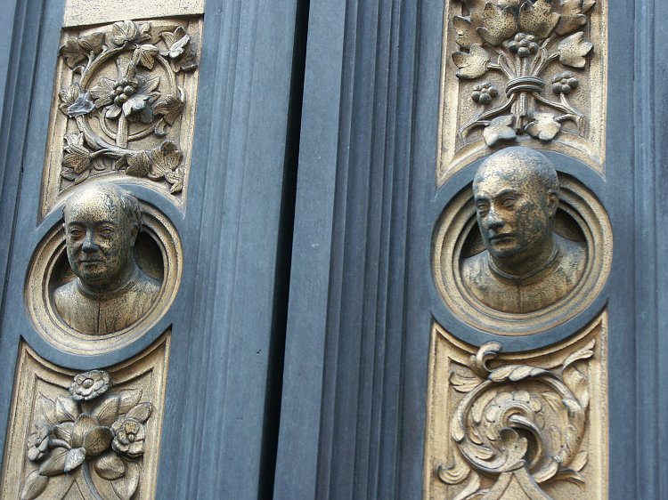 Border details: left--Jonah and Hannah?; center and detail: Self-Portrait of Ghiberti & Images of the Gates of Paradise by Ghiberti Florence Baptistry ... Pezcame.Com