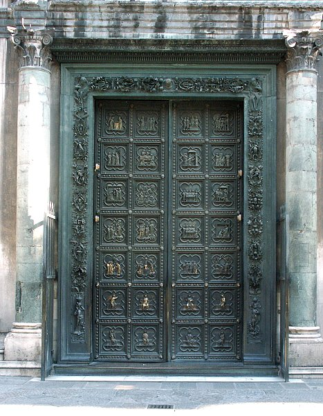 The South Doors & Images of the south doors by Andrea Pisano Florence Baptistry ... Pezcame.Com