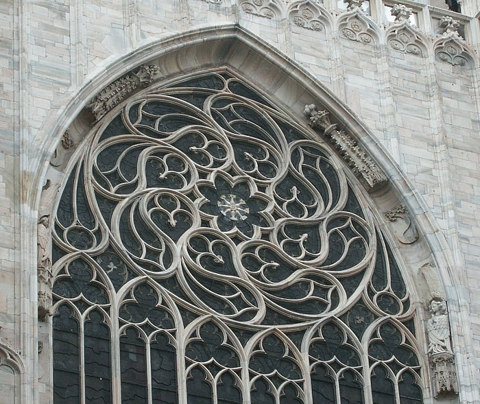 Gothic tracery on pinterest rose window gothic for Architecture windows