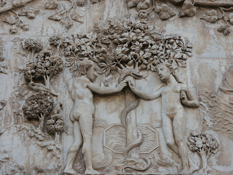Maitani's depiction of the Fall - Orvieto