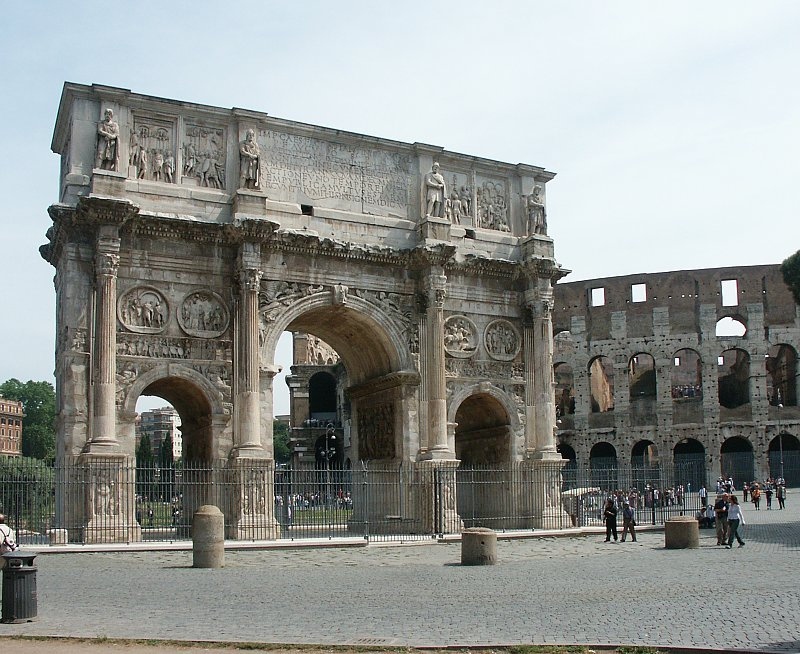 arch of constantine July 25: arch of constantine on this date in the year 315, the arch of constantine was officially opened it commemorates emperor constantine's victory over maxentius at the battle of milvian bridge three years earlier in 312.