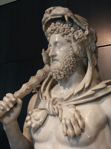 Images of Commodus as Hercules in the Capitoline Museum