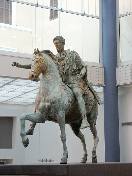 analysis of equestrian statue of marcus Empire: equestrian sculpture of marcus aurelius, bronze, c 173-76 ce, (capitoline museums, rome) the original location of the sculpture is.