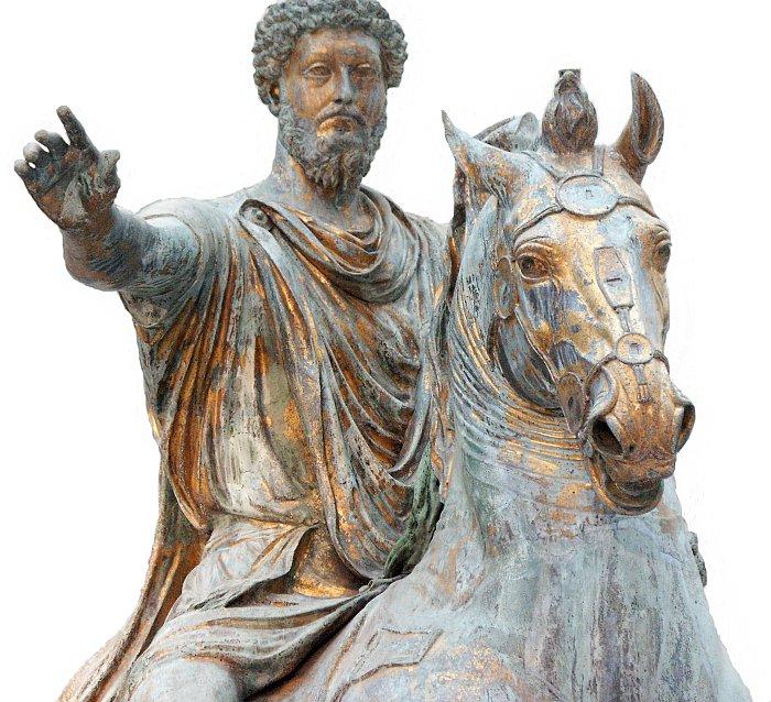images of the equestrian statue of marcus aurelius in the