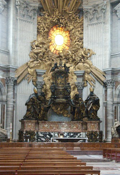 images of the cathedra petri st peters by bernini