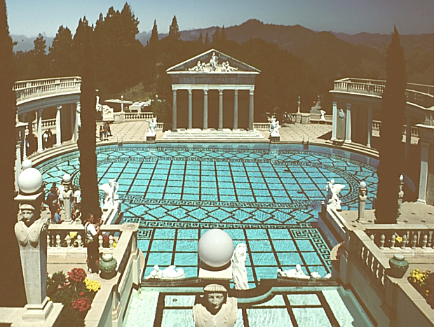 Images of the hearst castle san simeon california by - Hearst castle neptune pool swim auction ...