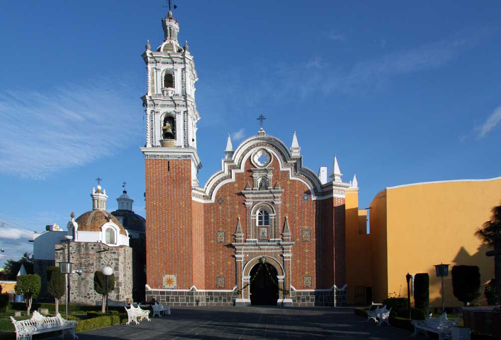 Images Of The Church Of San Bernardino Tlaxcalancingo San