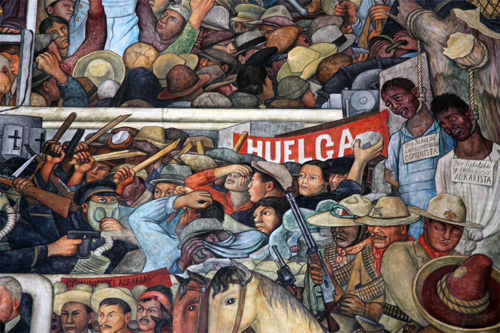 Images of murals by diego rivera in the palacio nacional for Arte mural mexicano