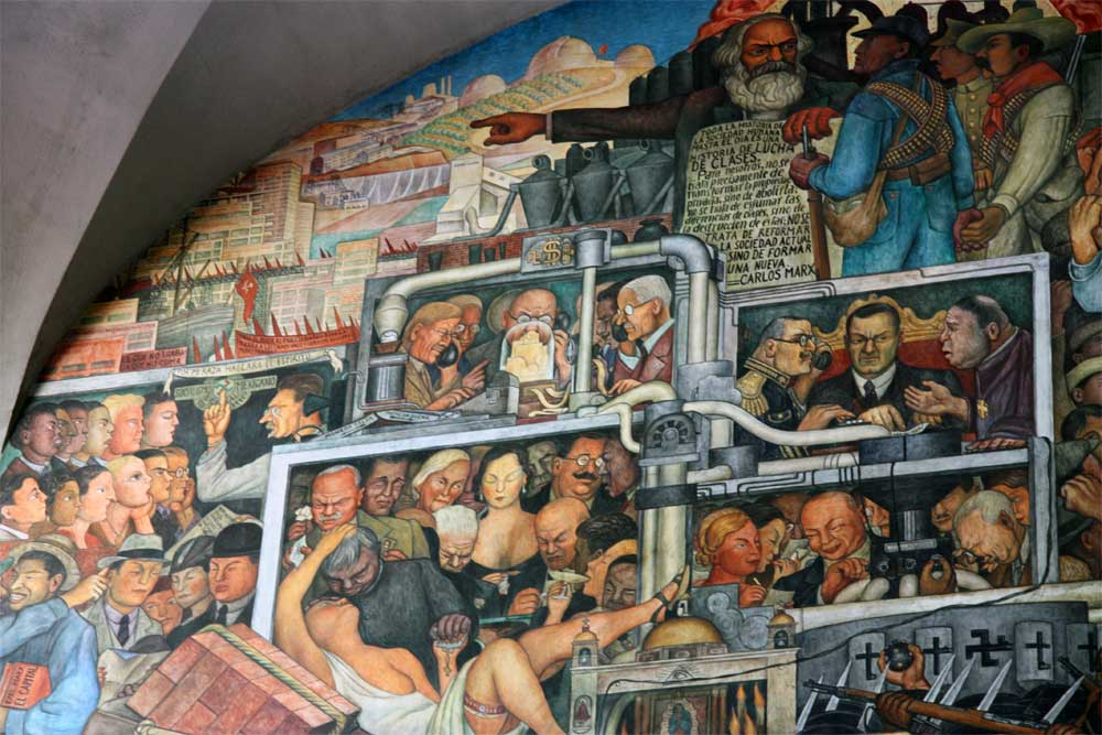 Images of murals by diego rivera in the palacio nacional for Diego rivera mural at rockefeller center