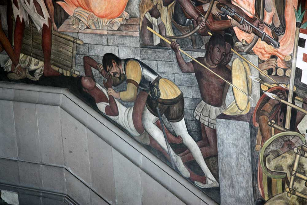 Images of murals by diego rivera in the palacio nacional for Diego rivera la conquista mural