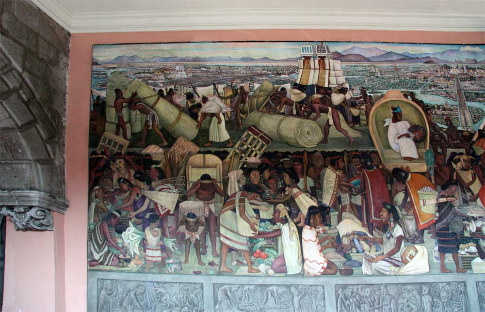 Images of murals by diego rivera in the palacio nacional for Diego rivera aztec mural