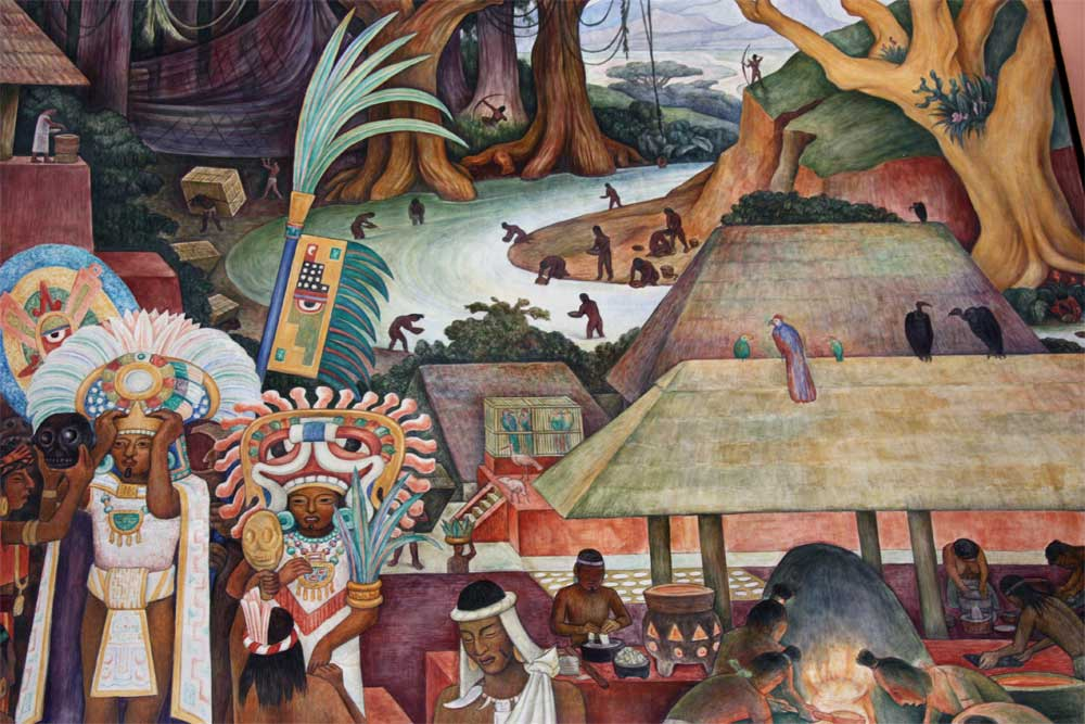 Images of murals by diego rivera in the palacio nacional for Arte mural en mexico