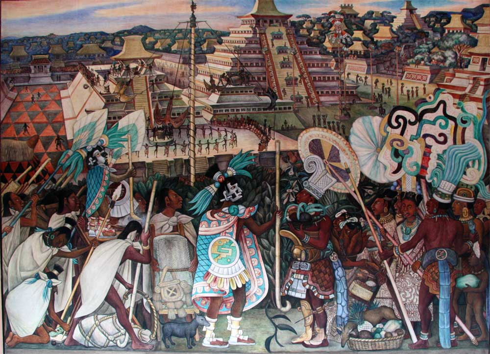 Images of murals by diego rivera in the palacio nacional for Diego rivera mural new york