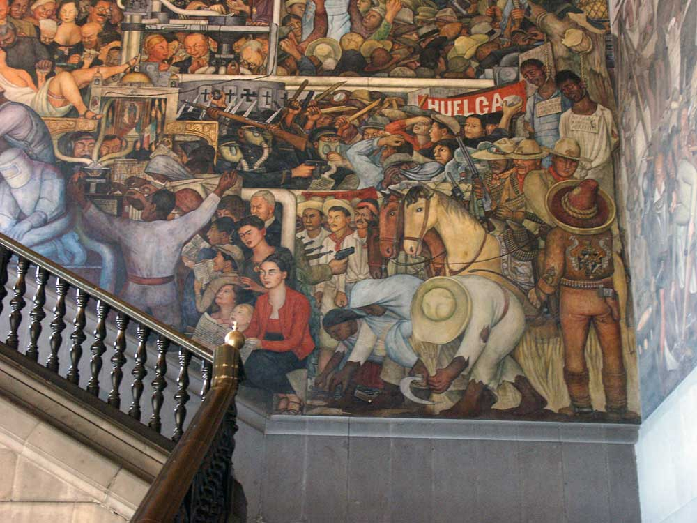 Images of murals by diego rivera in the palacio nacional for Diego riveras mural