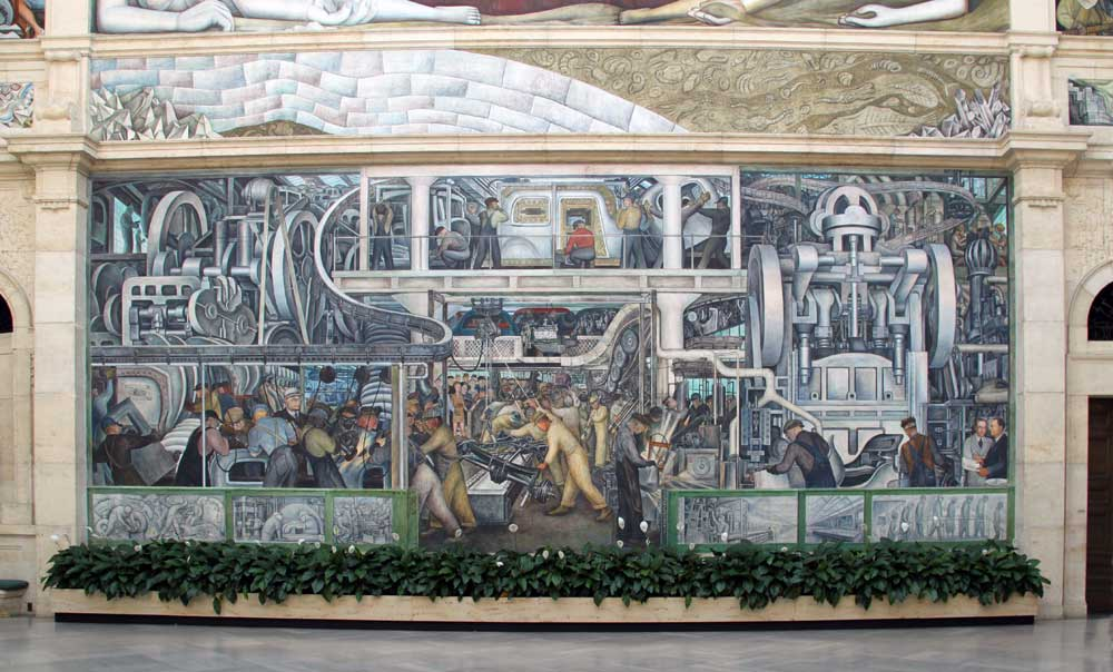 Images of murals by diego rivera at the detroit institute for Diego rivera detroit industry mural