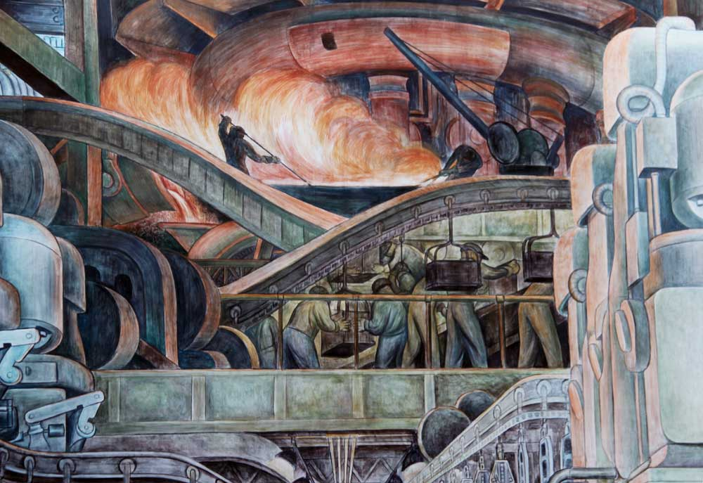 Images of murals by diego rivera at the detroit institute for Diego riviera mural