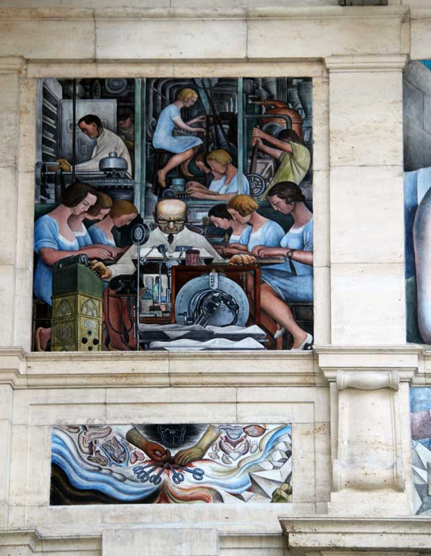 Images of murals by diego rivera at the detroit institute for Diego rivera creation mural
