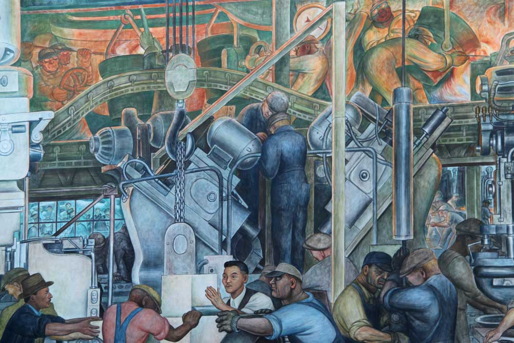 an analysis of the topic of the detroit industry by diego rivera Rivera, dream of a sunday afternoon in alameda central park practice: rivera, dream of a sunday afternoon in alameda central park view toward the south-east (detail), diego rivera, detroit industry murals, 1932-33, twenty-seven fresco panels at the detroit institute of arts (photo: lars k.