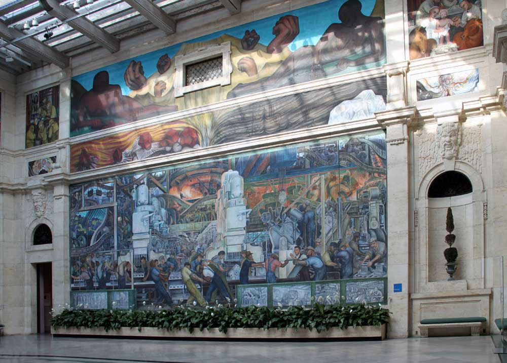 Images of murals by diego rivera at the detroit institute for Diego rivera first mural