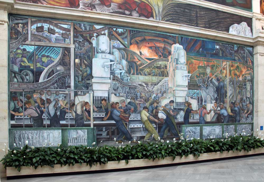 Images of murals by diego rivera at the detroit institute for Detroit industry mural