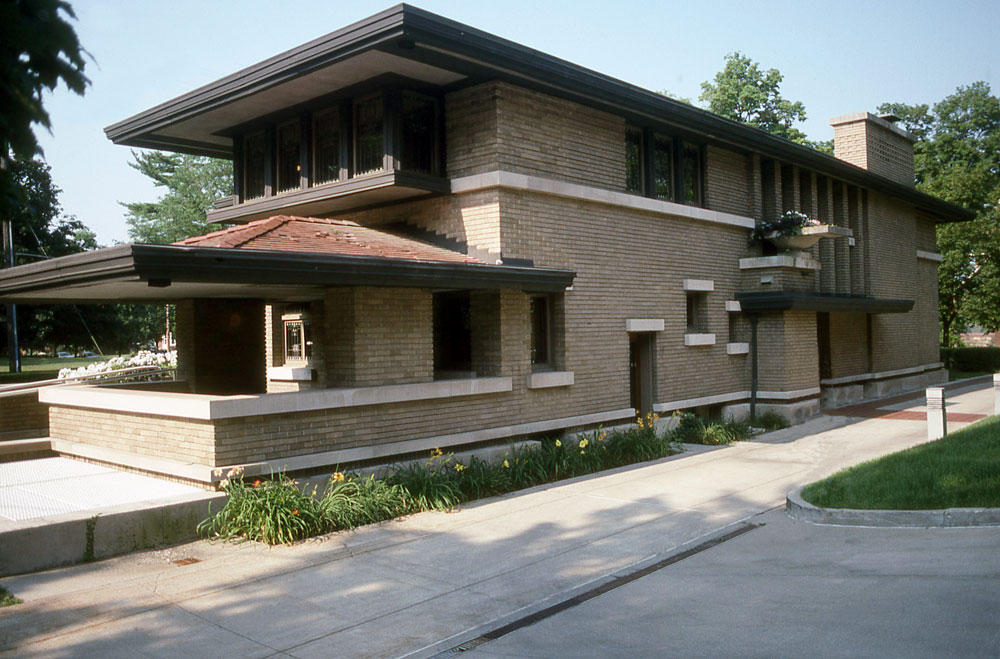 Images of the meyer may house by frank lloyd wright for Meyer house