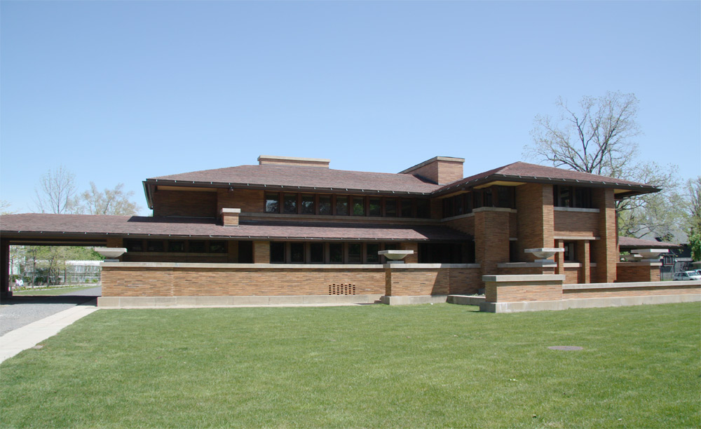 Images of the darwin martin house complex designed by for Frank lloyd wright prairie house