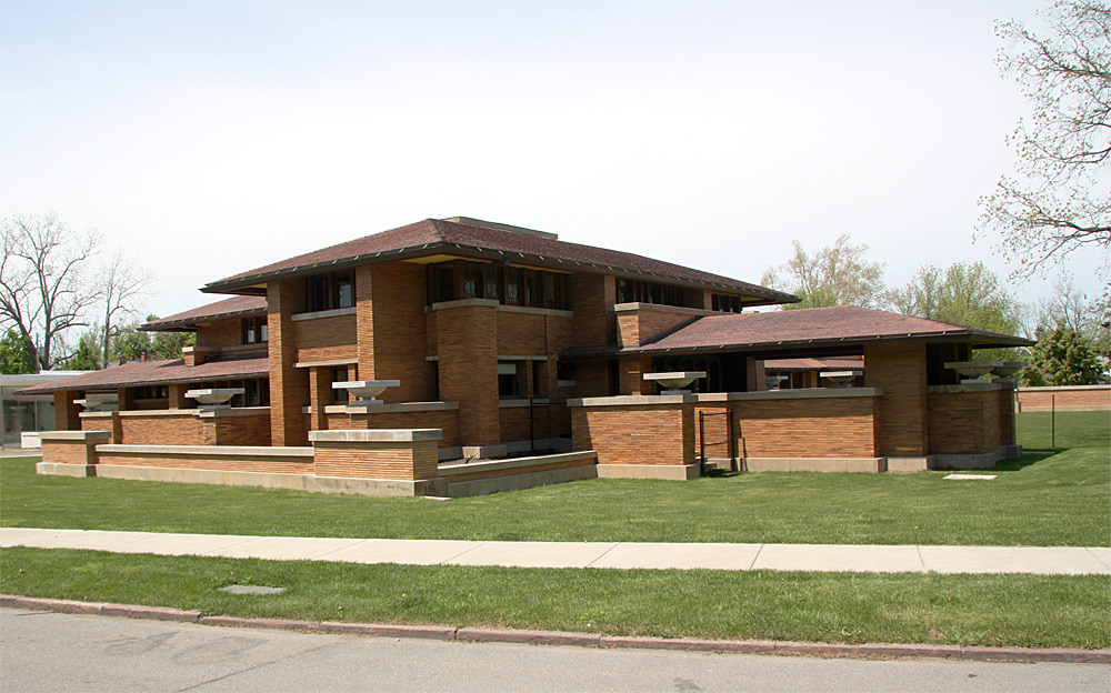 Images of the darwin martin house complex designed by for Frank lloyd wright prairie style house plans