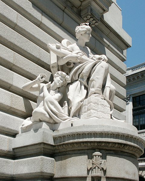 Images Of Commerce And Jurisprudence By Daniel Chester French