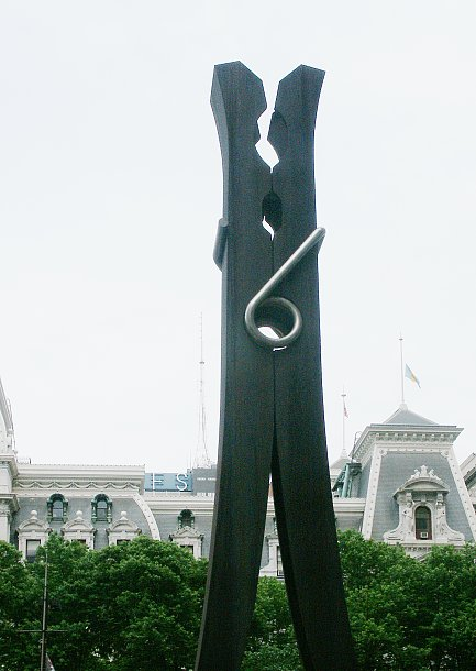 images of clothespin by claes oldenburg